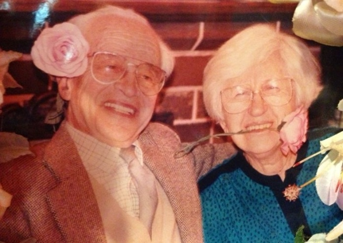My lovely little grandparents, Ken and Minnie.